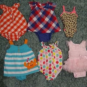 Baby girl 3-6 month summer lot with swimsuit